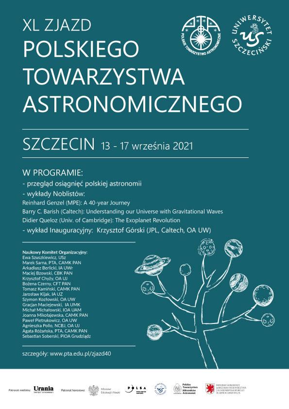 Plakat XL Zjazd PTA Szczecin 2021